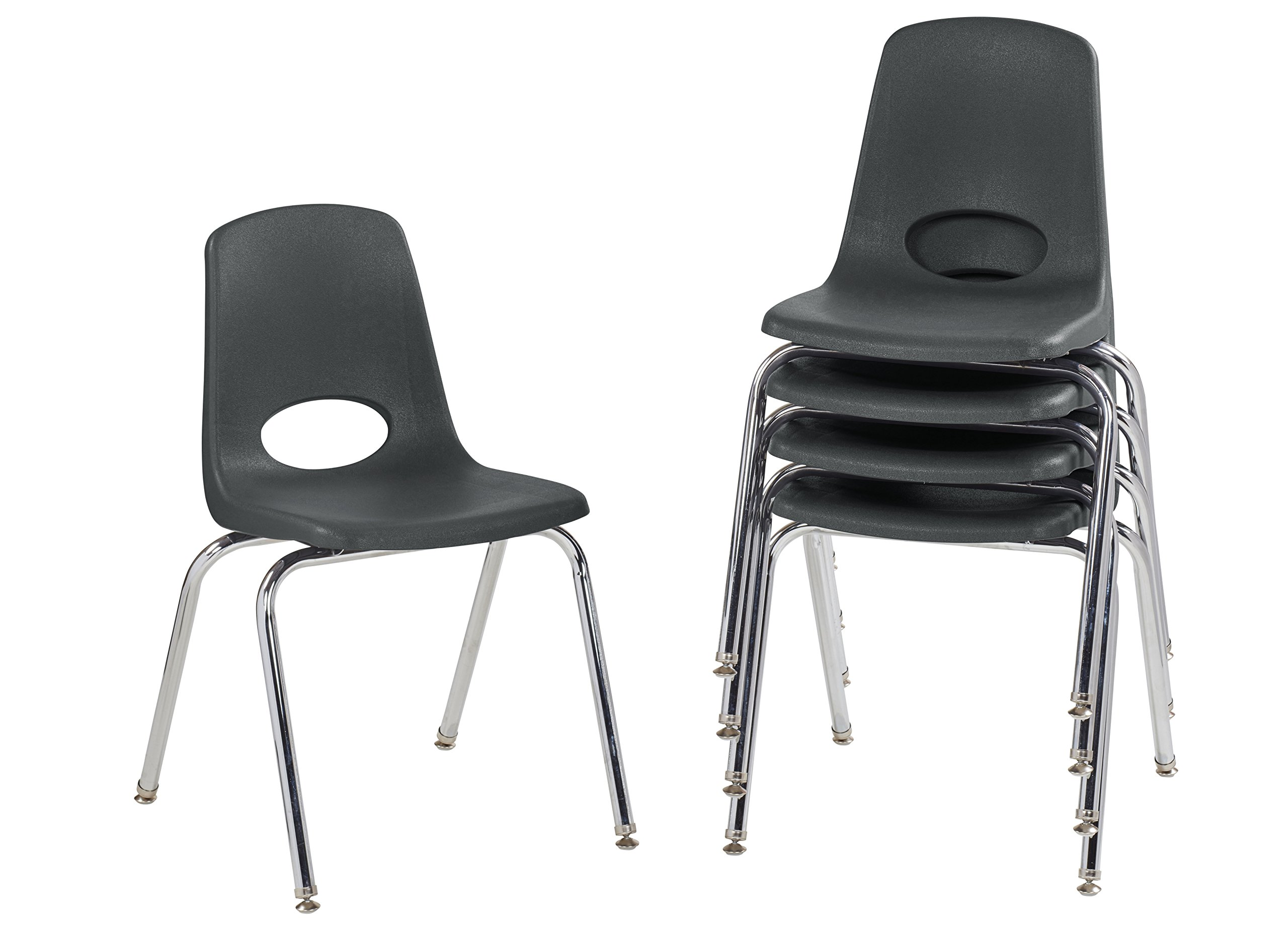 chair leg glides cover rentals near paterson nj cheap nylon find deals on get quotations ecr4kids 18 school stack chrome legs with swivel black
