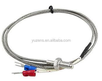 M6 Screw Temperature Sensor Thermocouple K Type With 2m