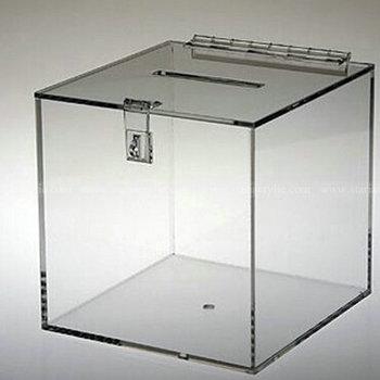 Crystal Clear Cam Lock Acrylic Donation Box Ballot Box With Clasp And Hasp - Buy Acrylic Donation Box.Acrylic Donation Box With Clasp.Cam Lock ...