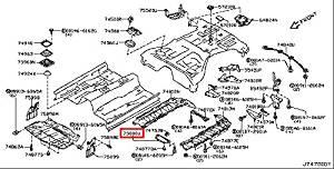 Buy Infiniti Genuine Floor Fitting Rear Diffuser Assy