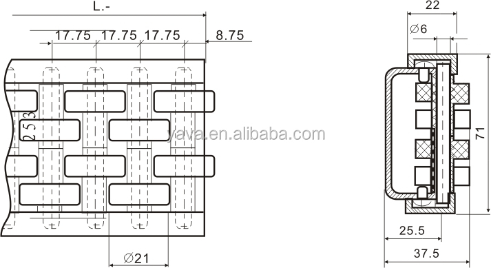 Nylon Plastic Roller Guide/straight Running Conveyor
