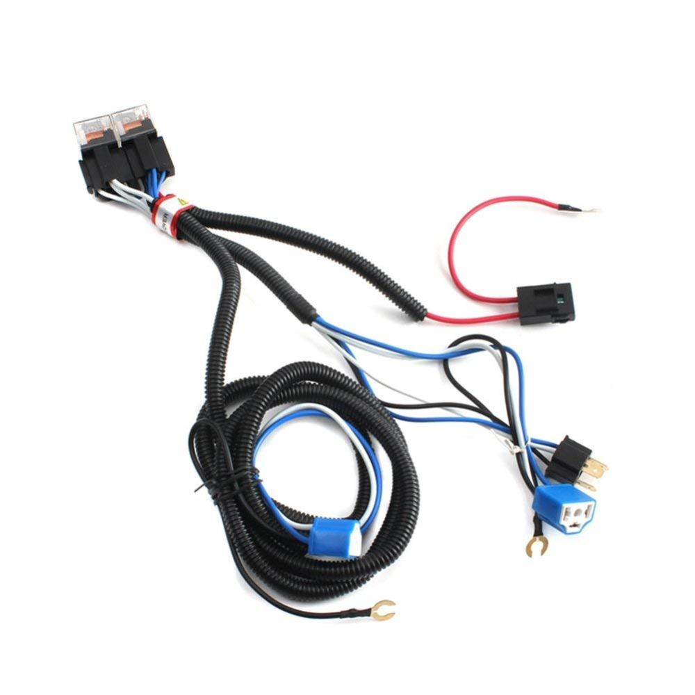 medium resolution of get quotations 2pcs h4 headlight booster cable wire harness connector relay fuse socket black h4 headlight connector fuse