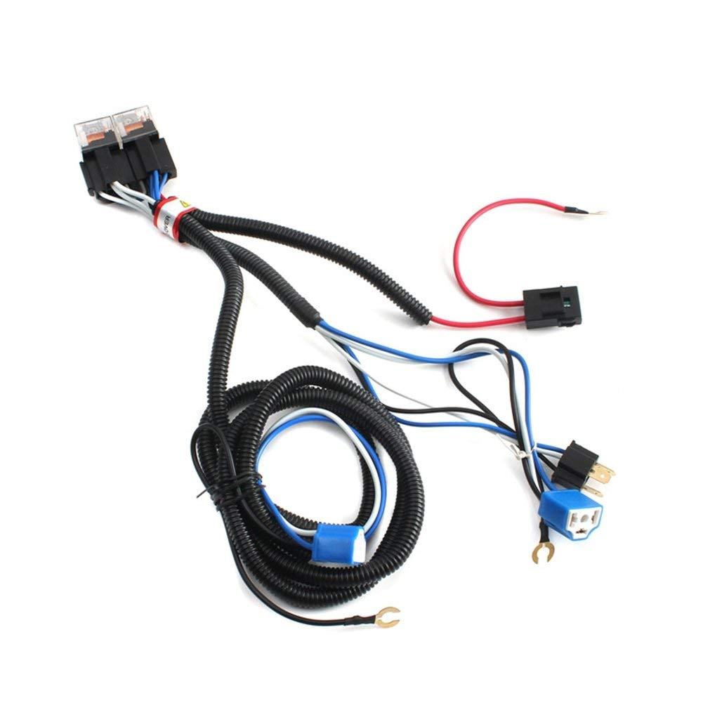 hight resolution of get quotations 2pcs h4 headlight booster cable wire harness connector relay fuse socket black h4 headlight connector fuse
