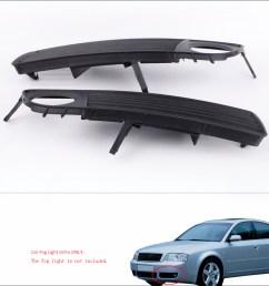get quotations 2pcs black front lower side bumper car fog light grille for audi a6 c5 1998  [ 1000 x 1000 Pixel ]