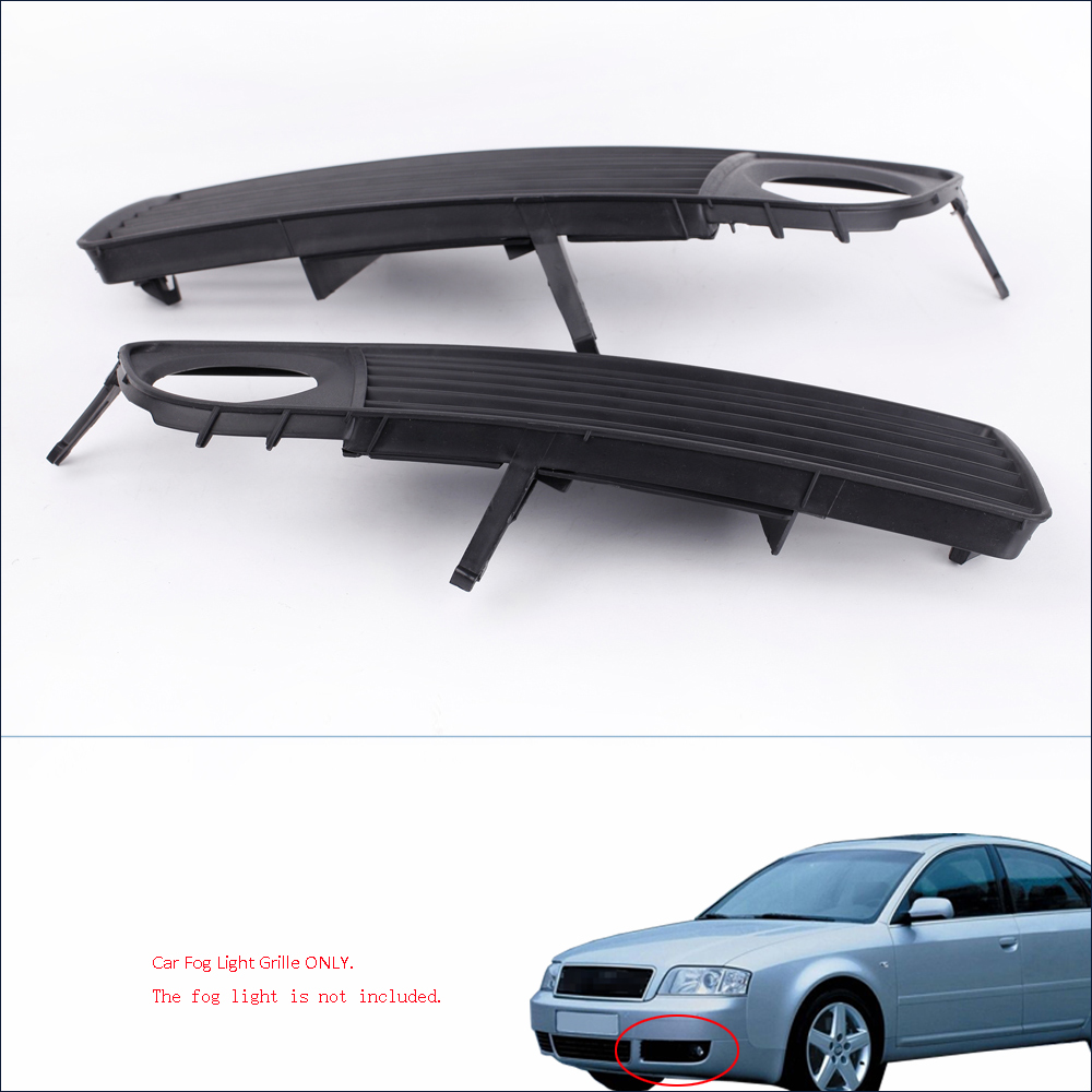hight resolution of get quotations 2pcs black front lower side bumper car fog light grille for audi a6 c5 1998