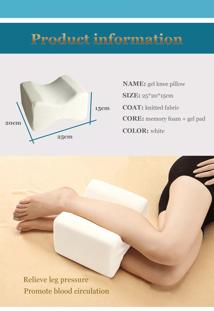 comfortable bamboo charcoal cool gel orthopedic memory foam cooling knee leg support rest wedge pillow for sleeping buy knee pillow leg rest