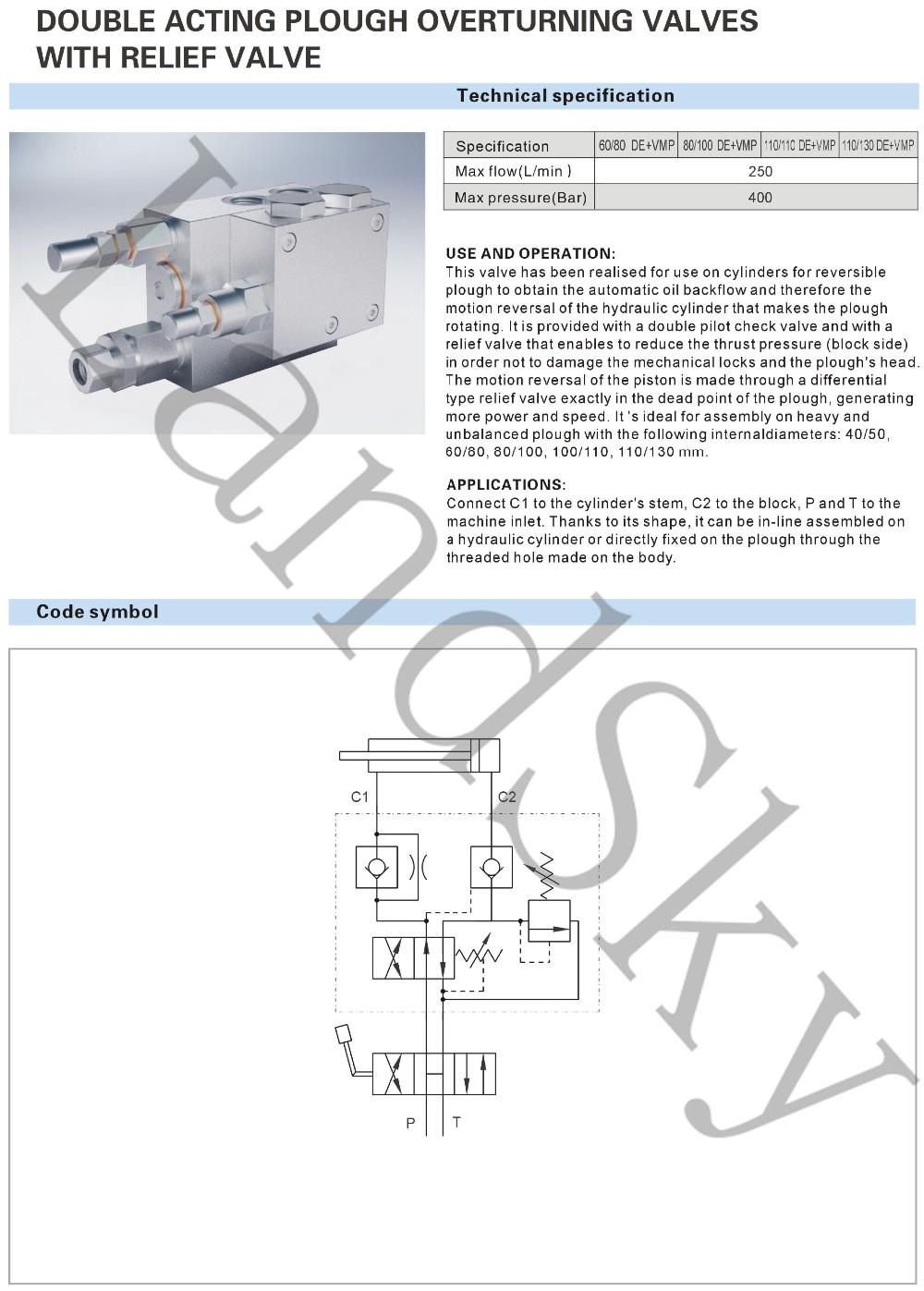 hight resolution of landsky rap 100 110 de vmp g3 8 hydraulic external double acting plough