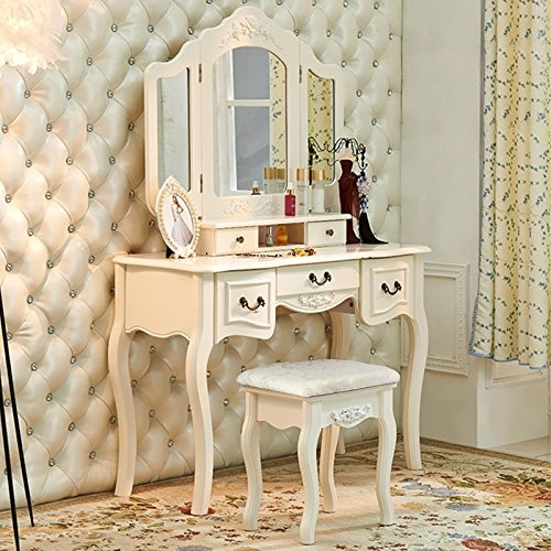 Dressing Table With Mirror Makeup Table French Wooden