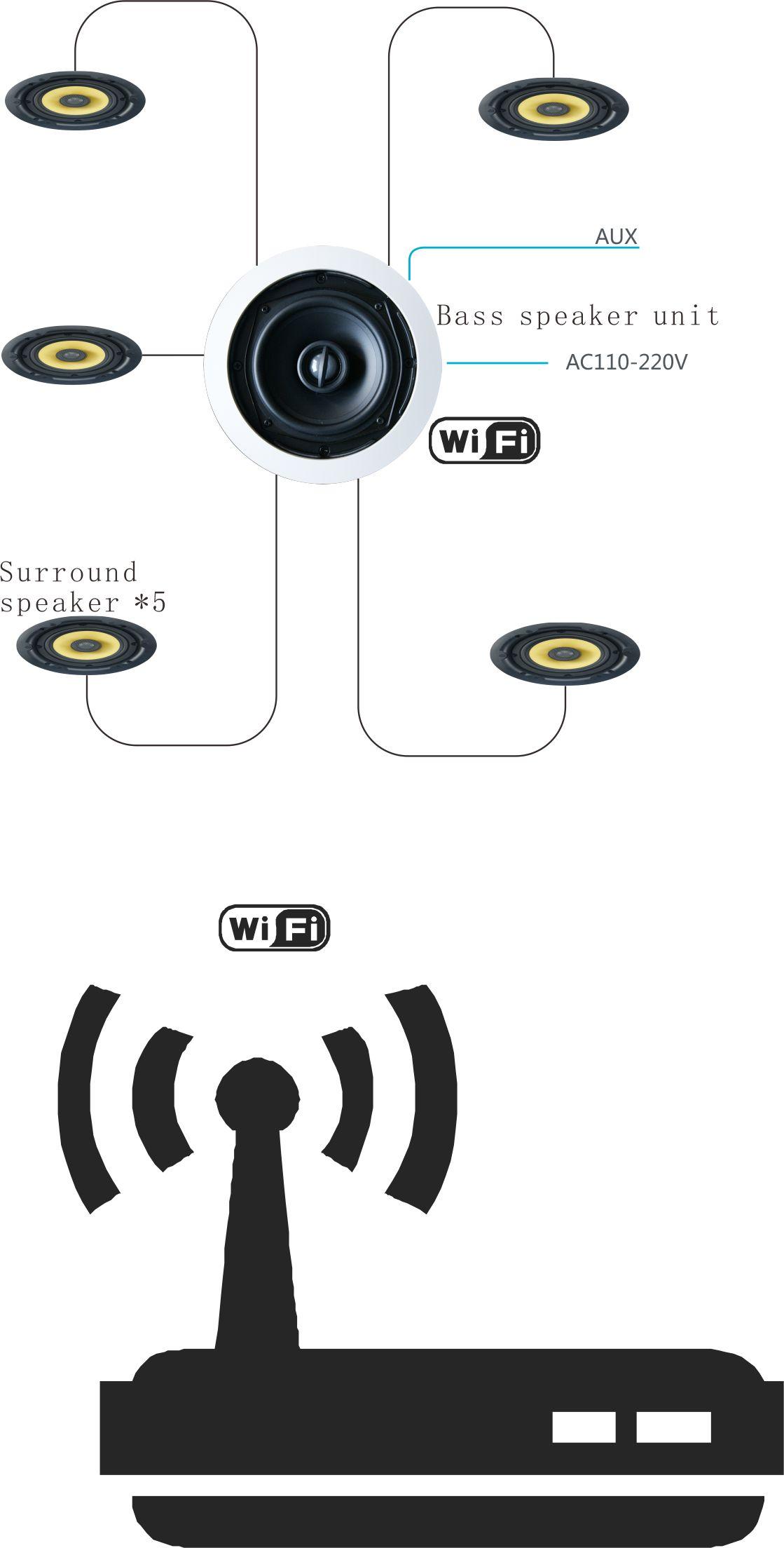 Wifi Ceiling Speaker (wifi Active Speaker Built-in 5.1