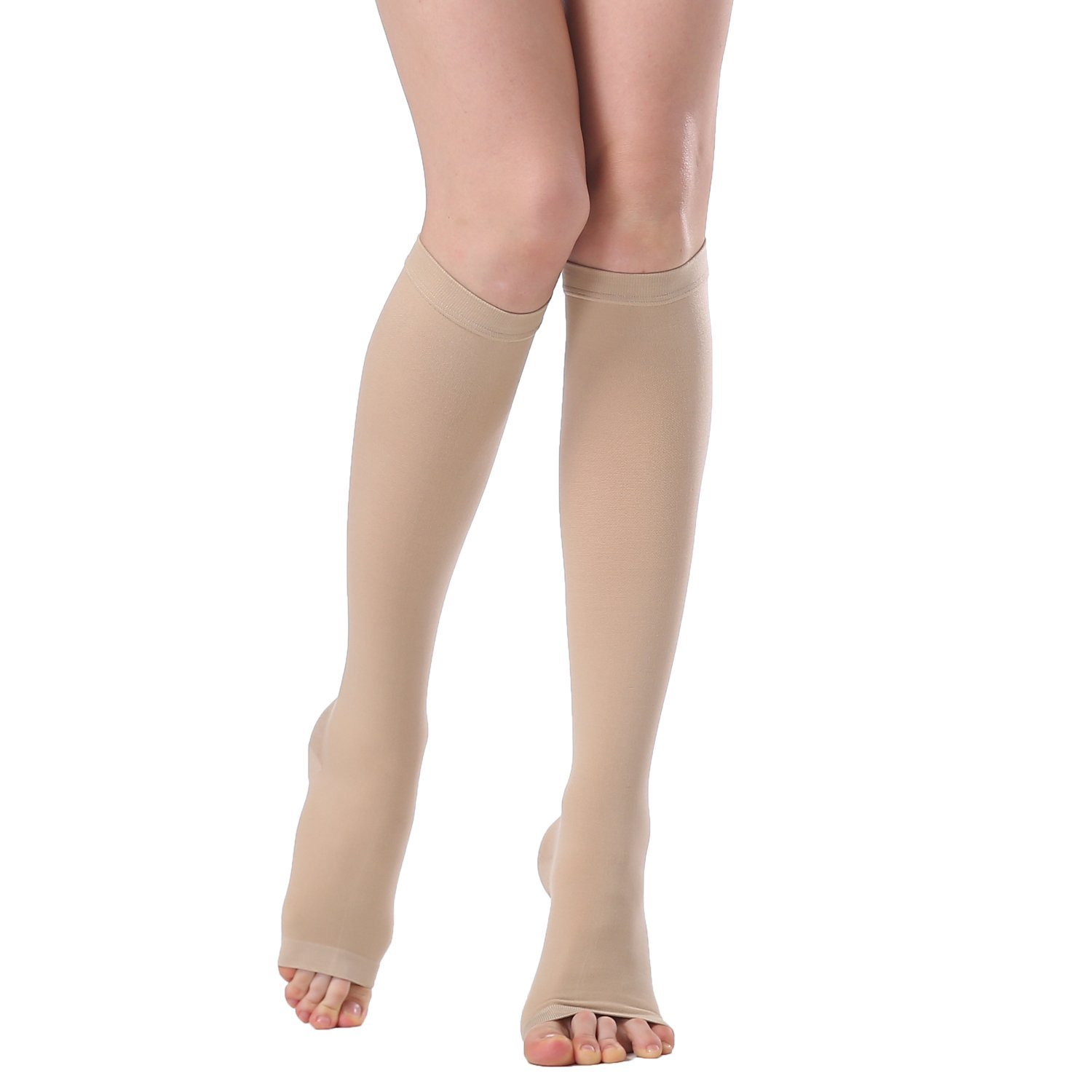 Buy Dr Ice Medical Knee High Open Toe Compression