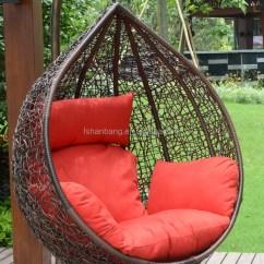 Sling Outdoor Sofa 2 Seater Leather Black Cadeira Do Ovo De Suspensão Teto-balanços Para O Pátio ...