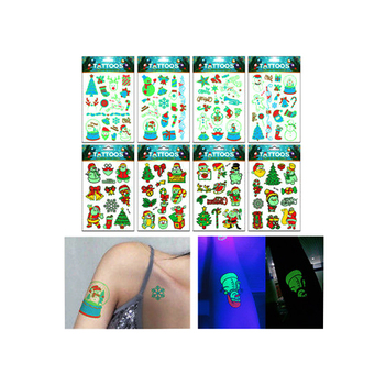 Resplandor En El Oscuro Cuerpo Etiqueta Engomada Del Tatuaje Del
