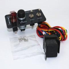 Ignition Switch Deutsch 1997 Mercury Grand Marquis Fuse Box Diagram 12v Engine Start Push Button 3 Toggle Panel With Indicator Light Diy Racing Style
