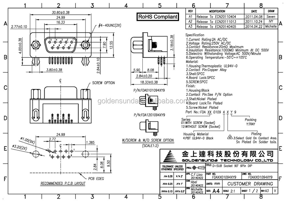 Db37 Cable Wiring Diagram VGA Cable Wiring Diagram ~ ODICIS