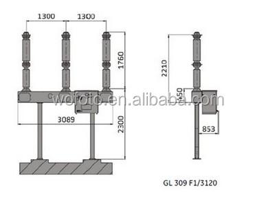 GL309 F1/3120 72.5kV Alstom High Voltage Circuit Breaker
