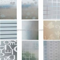 Patterned Frosted Window Film /window Glass Etching