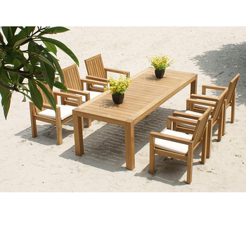 teak table and chairs garden dining chair momoda sn300 luxury outdoor furniture set for living room