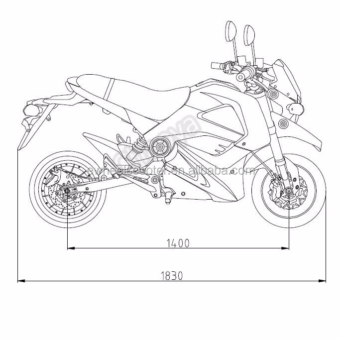 New Design 72v Eec Electric Motorcycle Chinese Electric