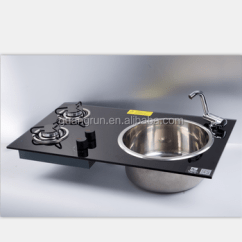 Rv Kitchen Sink Kitchens For Rent New Product Tempered Glass 2 Burner Gas Stove Integrated With Gr 215