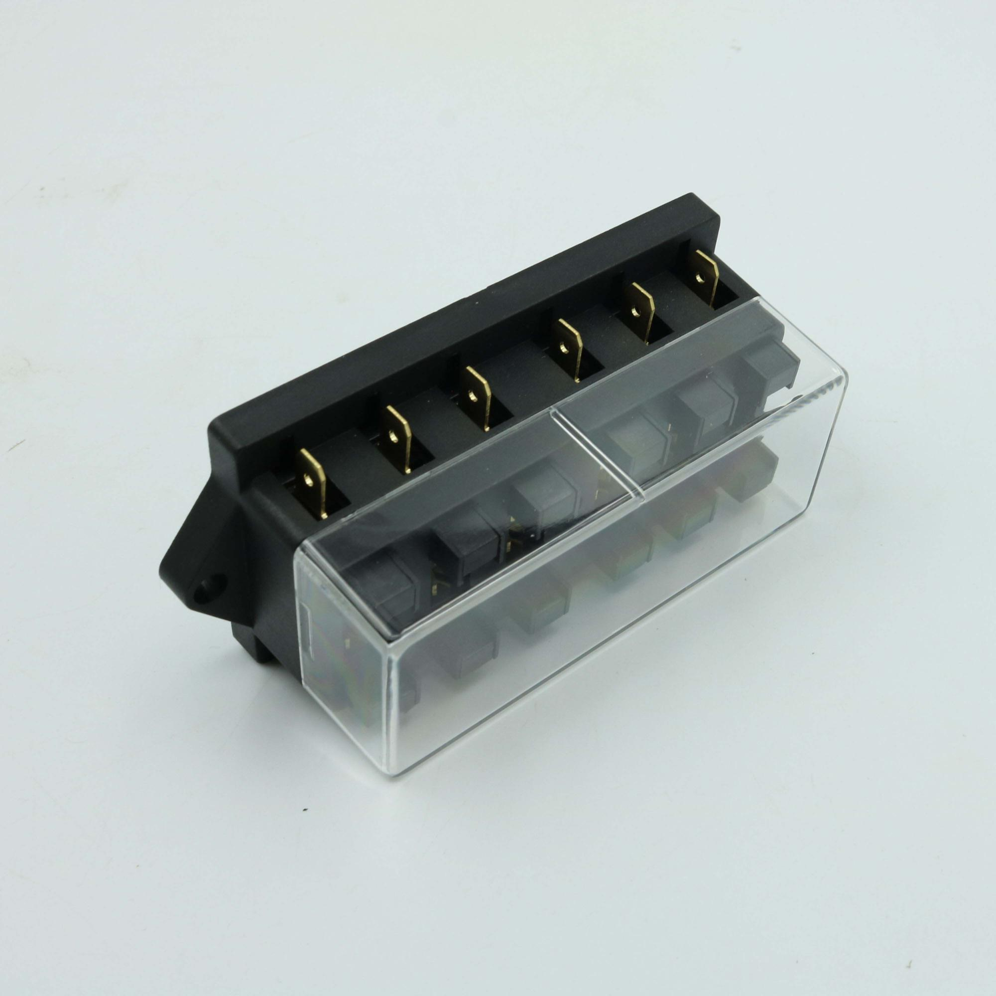 hight resolution of auto car bus dc 32v 6 way fuse box for middle size blade fuse atc