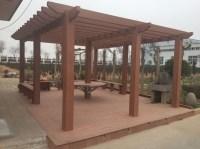 Wooden Pergola Gazebo / Plastic Roof Gazebos / Waterproof ...