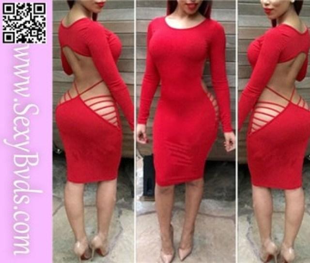 Open Back Red Tight Sex Girl Mini Dress Hot Girls Sex Image