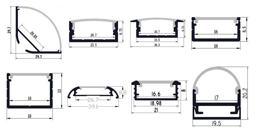 Led Aluminum Profile Led Linear Light Cabinet Wardrobe