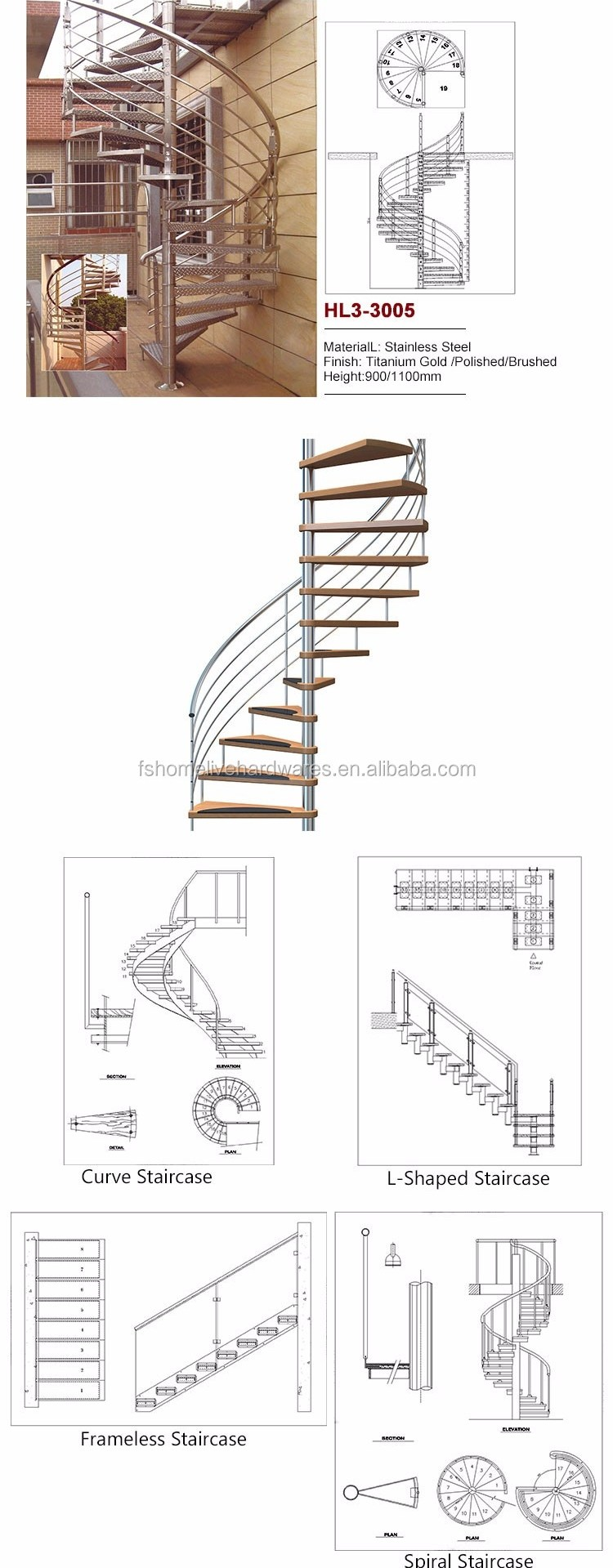 Cheap Buy Open Plan Standard Staircase Types Of Beautiful | 12 Foot Spiral Staircase | Lowes | Stair Treads | Black Spiral | Steel | Gray Interior