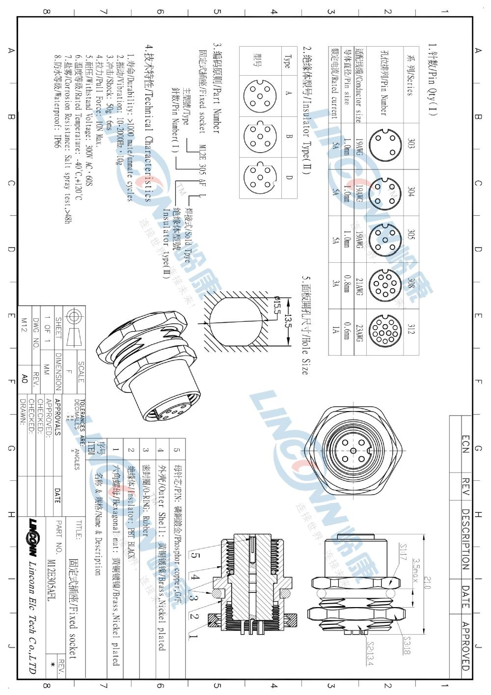 hight resolution of m12 12 pin waterproof male connector from china connector manufacturer