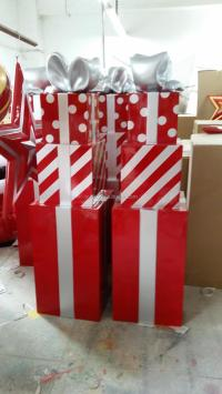 Large Outdoor Christmas Decorations Gift Boxes Gift Stack ...