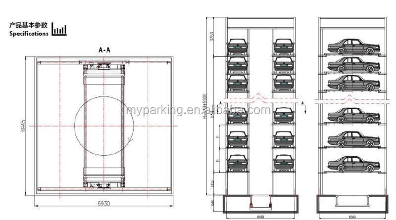 2015 New Type Tower Parking Smart Vertical Elevator