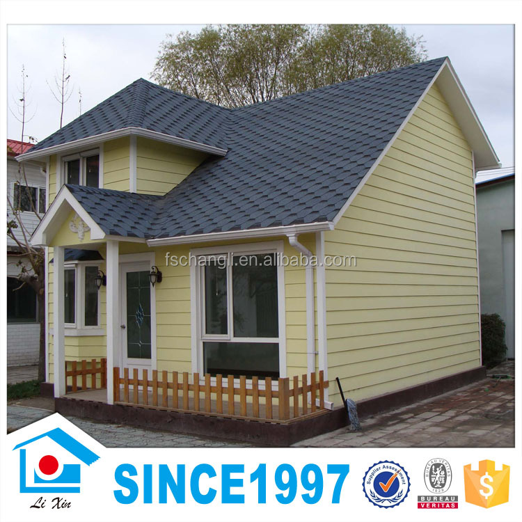 murah mana baja ringan atau kayu harga miring atap villa kecil prefabrikasi rumah papan