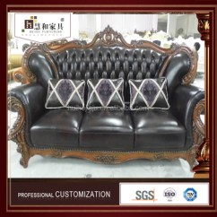 Brown Leather Studded Sofa Extra Large With Chaise Custom Latest Design Nordic Set Direct