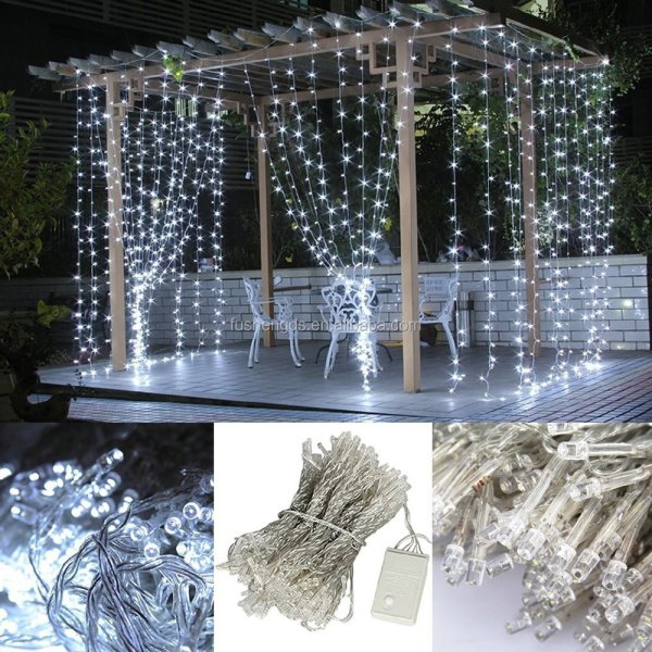 Outdoor And Indoor Christmas Decorative Pvc Led Curtain Light Net Fairy Lights