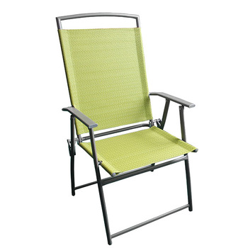 sling chair outdoor wheelchair bed garden balcony metal frame folding mesh teslin fabric