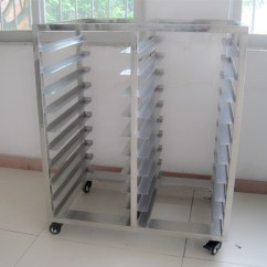 Kitchen Storage Racks Lowes Pantry 10 Trays 20 Pans Stainless Steel Trolley Bakery Bread Rack ...