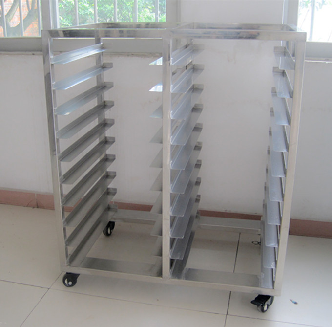 kitchen storage racks aid mixer covers 10 trays 20 pans stainless steel trolley bakery bread rack ...