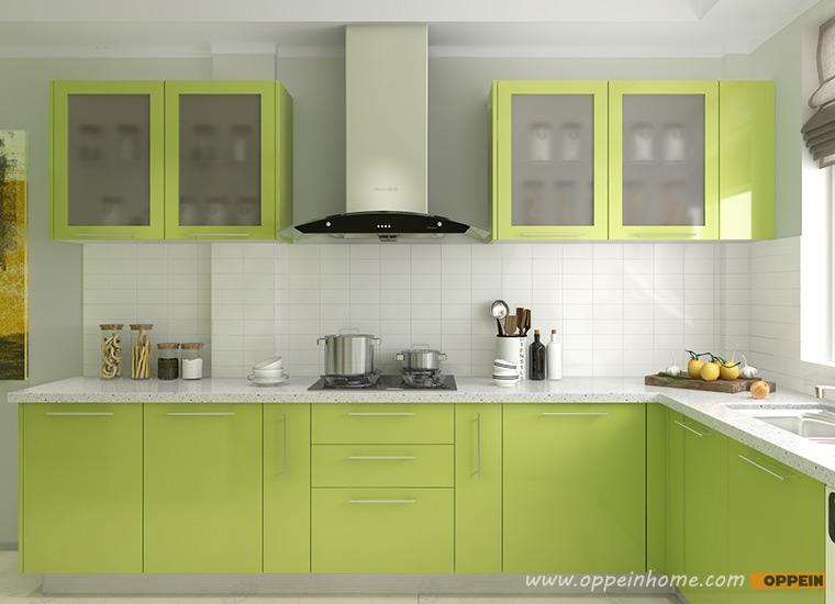 Guangzhou Oppein Wholesale White Lacquer Modular Kitchen