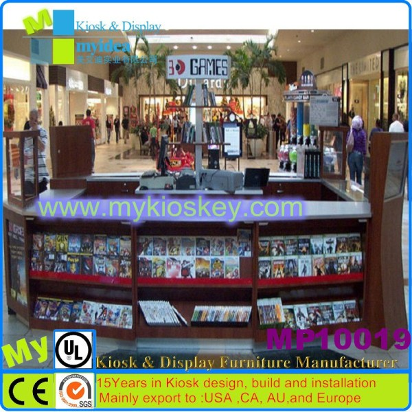 Modern Wooden Library Comic Book Display