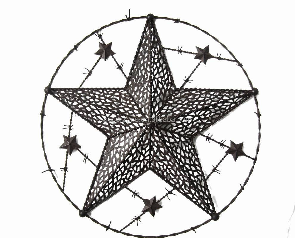 Decorative Antique Cast Iron Stars Wall Plaque Wholesale