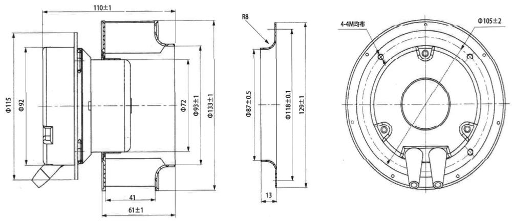 Small Mini China Ac 12v Dc Ec 2500 3000 Cfm Suction High