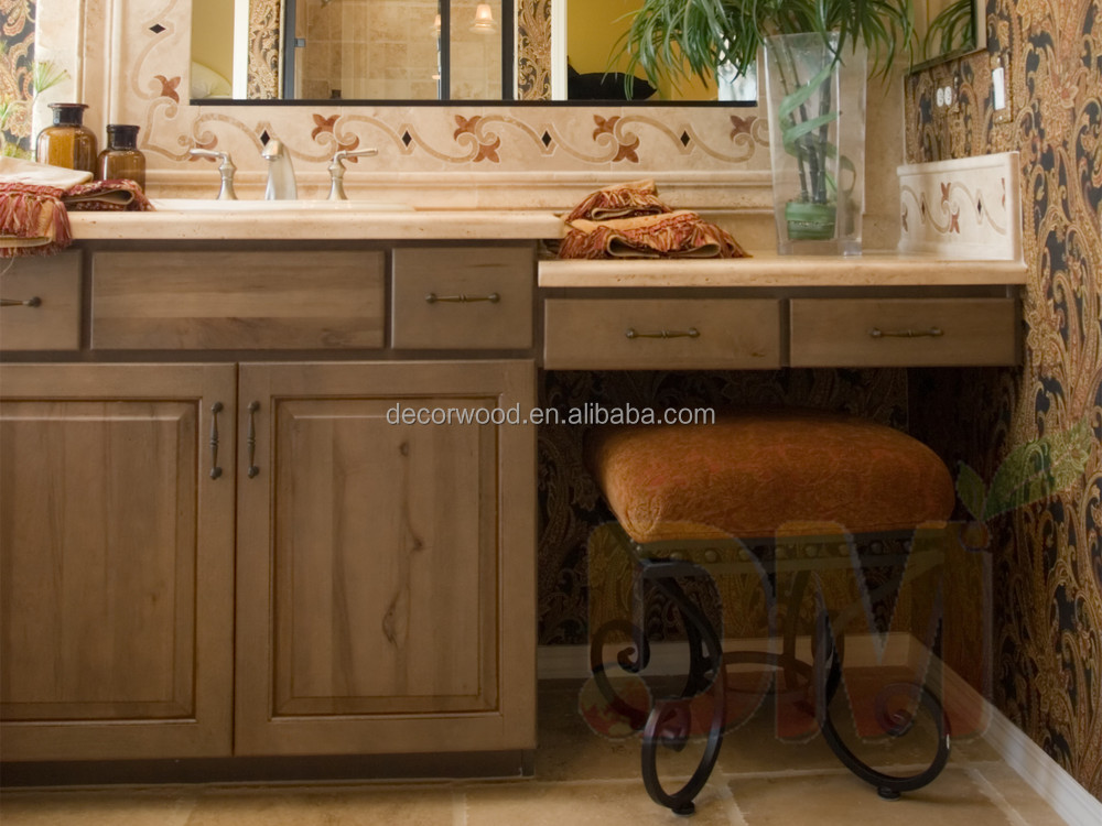 French Style Bathroom Vanity Cabinet With Ceramic Basin