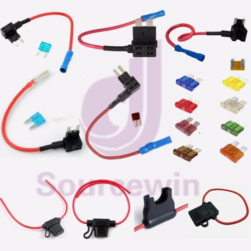 small resolution of custom electronic copper wire fuse box 30 amp auto marine in line fuse holder