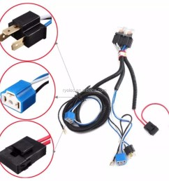 new arrival h4 relay halogen ceramic controller custom wire harness [ 1000 x 1000 Pixel ]