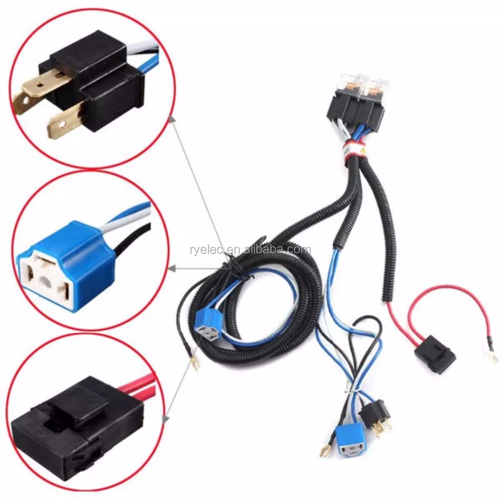 hight resolution of new arrival h4 relay halogen ceramic controller custom wire harness