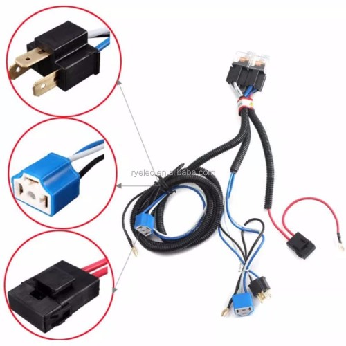 small resolution of new arrival h4 relay halogen ceramic controller custom wire harness