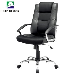 Pu Leather Office Chair Desk Ottoman Swivel Boss Revolving Manager Executive