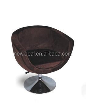 metal tub chairs christmas wedding chair covers u shape fabric swivel with round base ns2279