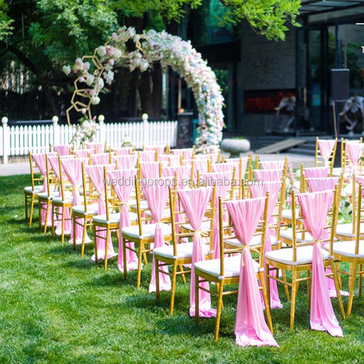 chair back covers wedding indoor cushions banquet chiffon chiavari drape cover