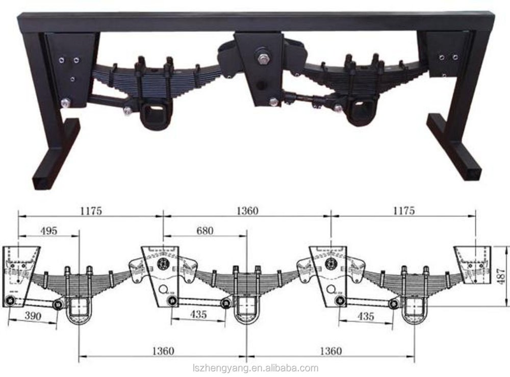 medium resolution of suspension system parabolic leaf spring for semi trailer truck tractor manufacturer
